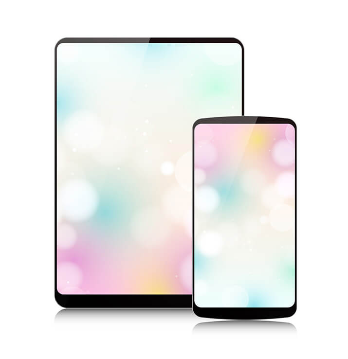 Phone and tablet side-by-side