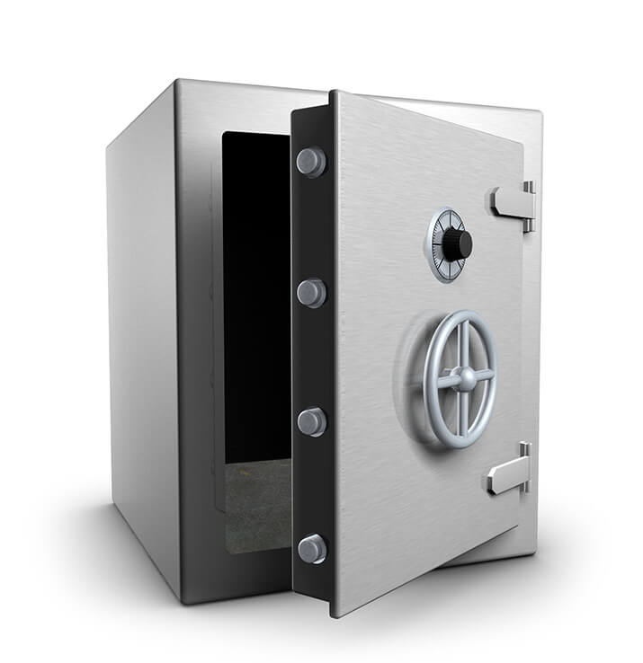 An open safe